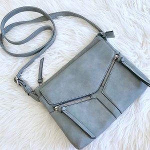 A New Day Gray Tassel Crossbody Bag Purse